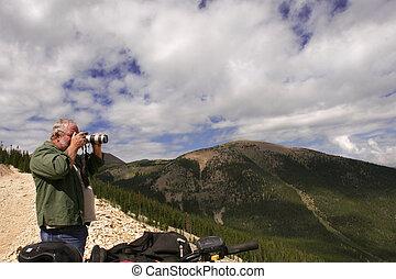 photographe, montagnes