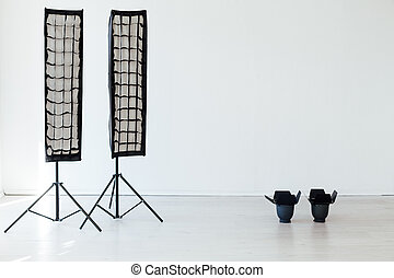 photographe, photo, flash, fond blanc, accessoires, équipement, studio