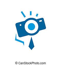photographe, résumé, signe