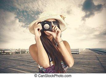photographe, retro