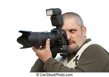 photographe, working.