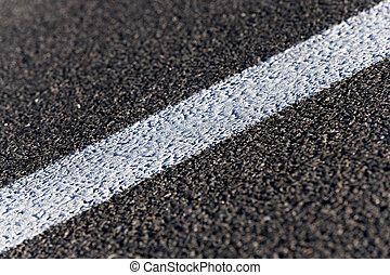 road markings - white stripes