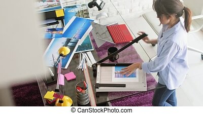 Photographer And Artist Working On Picture In Design Studio