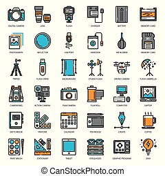 Photographer and designer gadget, pixel perfect filled...