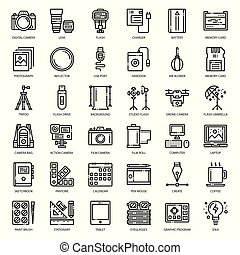 Photographer and designer gadget, pixel perfect outline...