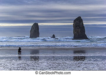 Photographer at Cannon Beach