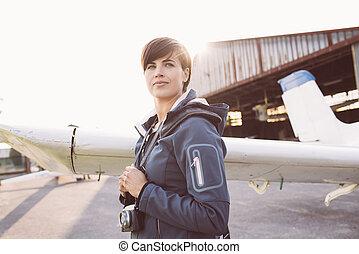 Photographer at the aerodrome