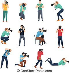 Photographer Avatars Set