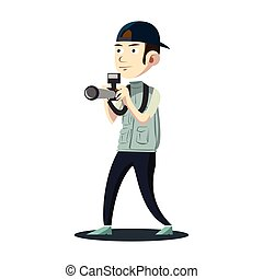 photographer illustration design color