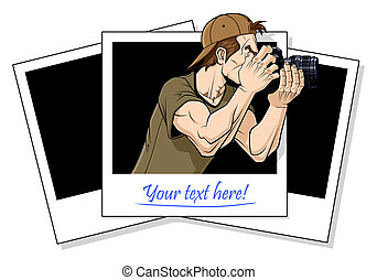 Photographer in action - Abstract illustration of...