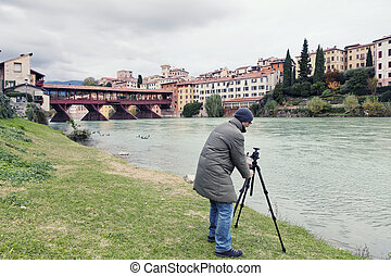 Bassano del Grappa, Veneto, Italy - Photographer in the ...