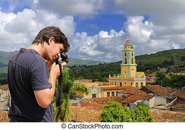 Photographer in Trinidad, cuba