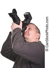 photographer isolated on white 2