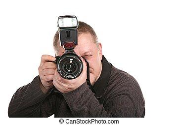photographer isolated on white 3