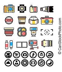 Photographer kit, camera elements - Photographer equipment ...