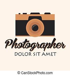 Photographer logo. Camera logo. Logotype. Photo studio. Digital photo.