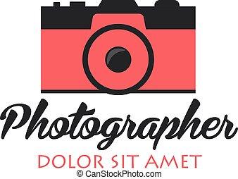 Photographer logo. Camera logo. Logotype. Photo studio....