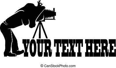 Photographer logo - Photographer silhouette vector icon on ...