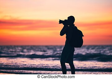 Photographer on the beach