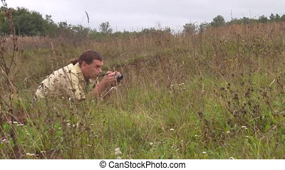 photographer on the nature