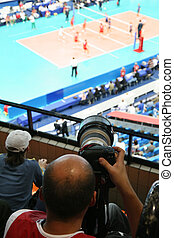 photographer on volleyball game