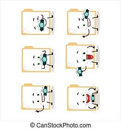 Photographer profession emoticon with brown manila folder ...