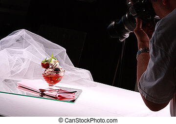 Photographer shooting a nice icecream