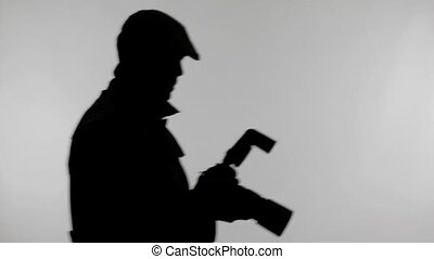 Photographer Silhouette Capturing Photo with Flash Light