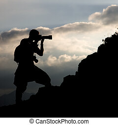 Photographer, silhouette
