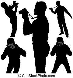 Photographer Silhouettes 1 - detailed illustrations