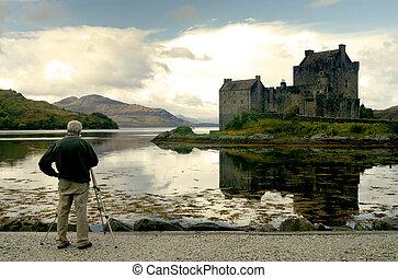 Photographer taking landscape shot