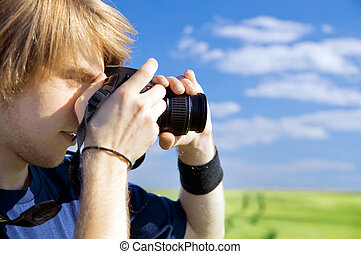 Photographer taking pictures