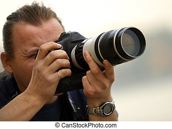 Photographer - The photographer works
