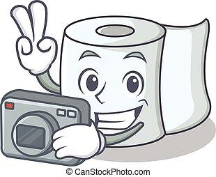 Photographer tissue character cartoon style