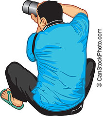 Photographer on duty and enjoy his work