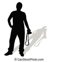 photographer vector silhouette illustration