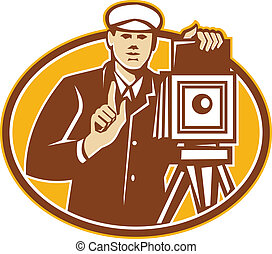 Photographer Vintage Camera Front Retro