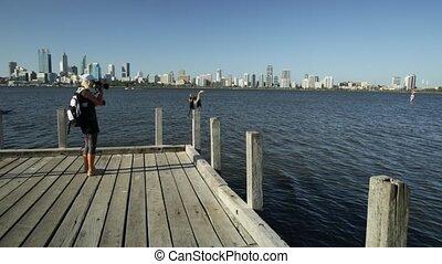 photographer Woman at Swan River - photographer woman...