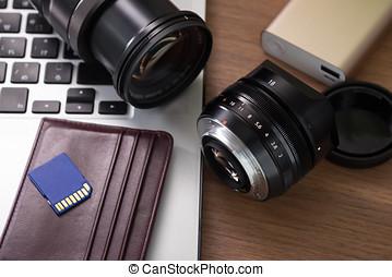 Photographer work desk