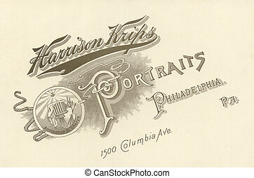 photographer\\\'s, advertentie, circa, 1880