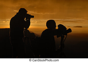 Photographers silhouette