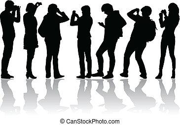 photographes, image, vecteur, gens