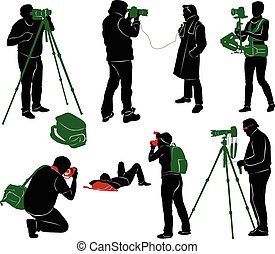 photographes, silhouettes