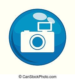 photographic camera button icon