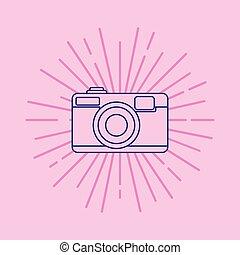 photographic camera design - photographic camera icon over...
