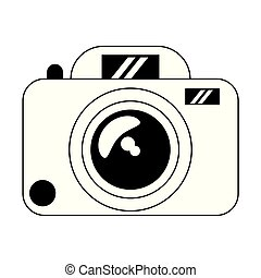 Photographic camera device isolated black and white