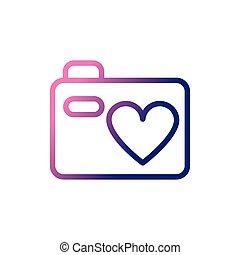 photographic camera, gradient style icon