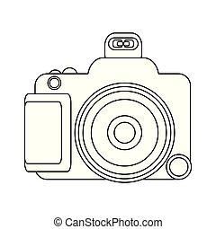 Photographic camera isolated in black and white