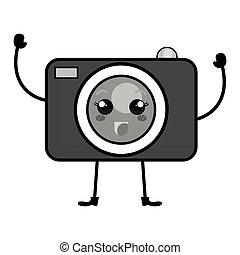 photographic camera kawaii character