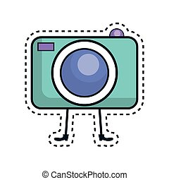 photographic camera kawaii character